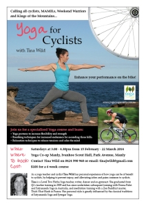 Yoga for Cyclists Course Flyer